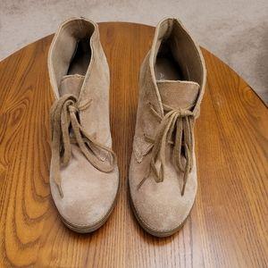 Aldo tan suede booties, size 6.5